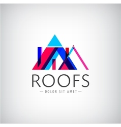 modern colorful roofs logo houses vector image vector image