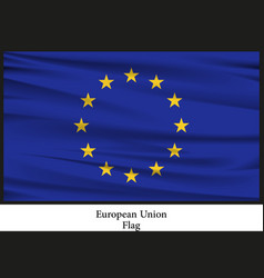national flag brochure of european nation vector image