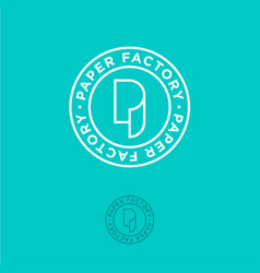 p monogram roll paper factory logo vector image vector image