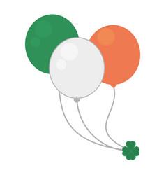 balloons flag irish st patricks day vector image vector image