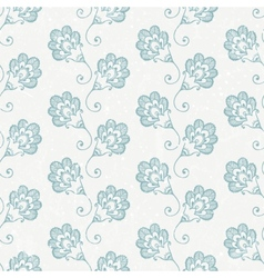 Grunge seamless wallpaper with retro print vector image
