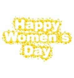 Happy womens day Yellow mimosa flower Acacia vector image