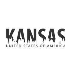 Kansas usa united states of america text or vector
