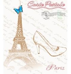 Retro poster of Paris vector image vector image