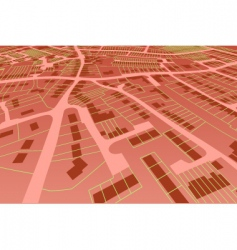 streetmap perspective vector image