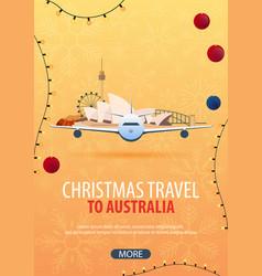 Christmas travel to australia winter travel vector