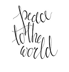 Peace to the world vector image vector image