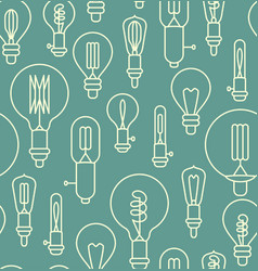 seamless pattern made of linear light bulbs vector image