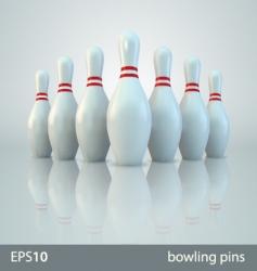 vector bowling pins vector image vector image