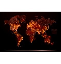 world map low poly flame vector image vector image