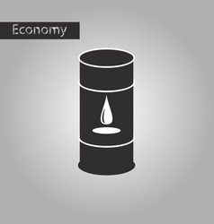 Black and white style icon barrel of oil vector