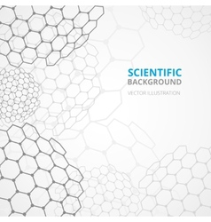 Science background template print vector image
