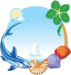Sea Summer Travel Concept vector image