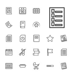 22 page icons vector