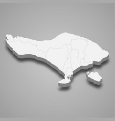 3d isometric map bali is a province vector