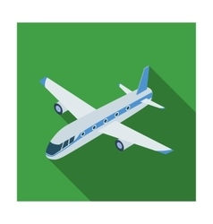 Airplane icon in flat style isolated on white vector image