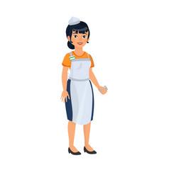 asian woman as cashier woman vector image