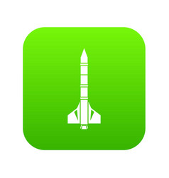 atomic rocket icon digital green vector image
