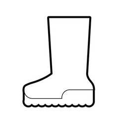 boot shoe icon image vector image