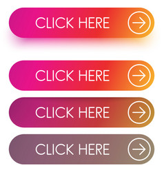 bright spectrum click here buttons isolated on vector image