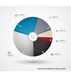 Business pie chart paper Infographics vector