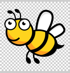Cartoon bee logo icon in flat style wasp insect vector