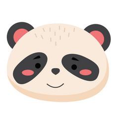 cartoon portrait panda isolated on white vector image