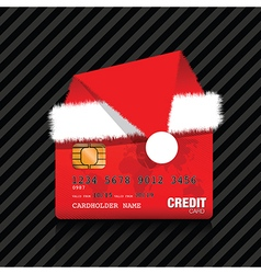 christmas credit card vector image