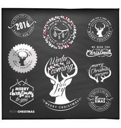 Christmas Design Elements Badges and Labels vector image