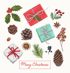 christmas hand drawn decoration vector image