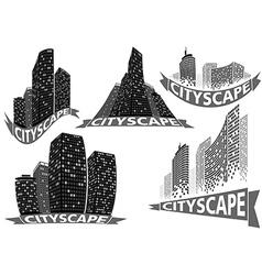 Cityscape Set vector image