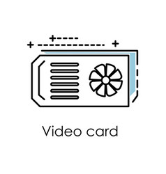 cryptocurrency mining video graphics card vector image