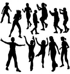dance silhouettes vector image