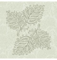 Doodle leaf pattern vector