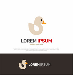 duck animal logo icon design vector image