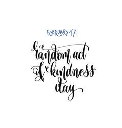 February - random act kindness day vector