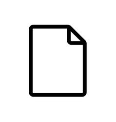 file icon paper symbol vector image