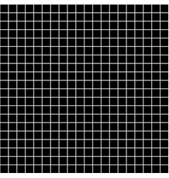 five millimeters square white grid on black vector image