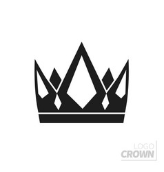 flat crown isolated on white vector image