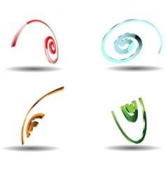 Four 3d helix vector