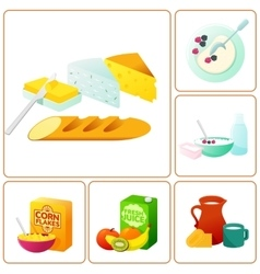 Fresh and healthy breakfast vector
