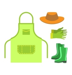 Garden apron and rubber boots isolated vector