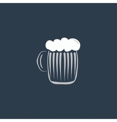 Glass of beer with foam vector image