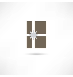Grey gift vector image