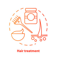 Hair treatment blue concept icon hair care and vector