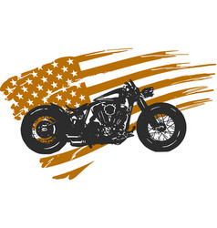 Hand drawn and inked vintage american chopper vector