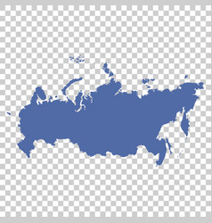High detailed map - russia vector