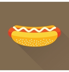 Hot dog flat icon vector