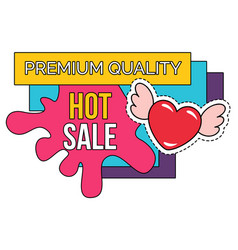 Hot sale valentines day discount isolated icon vector