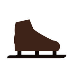 Ice skates icon vector